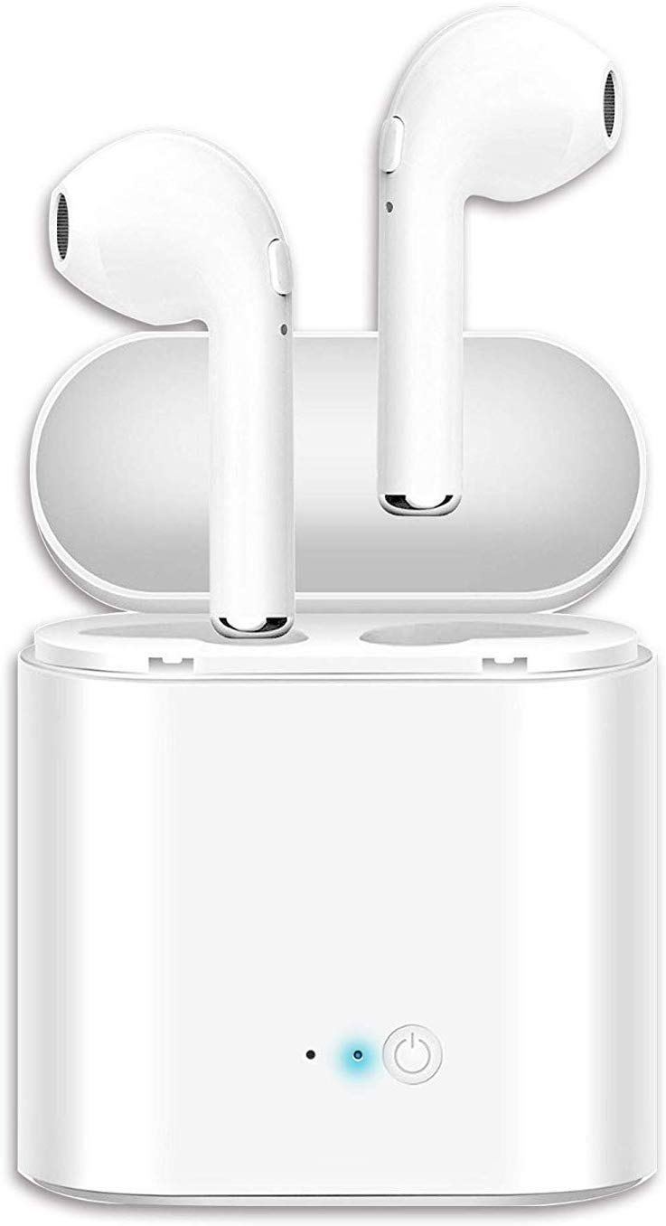 Bluetooth Earbuds, Bluetoooth 5.0 Headphones Wireless Earbuds 30H Cycle Playtime in-Ear Wireless Headphones Hi-Fi Stereo Sweatproof Earphones Sport Headsets Buit-in Mic for Work Running Travel Gym 02