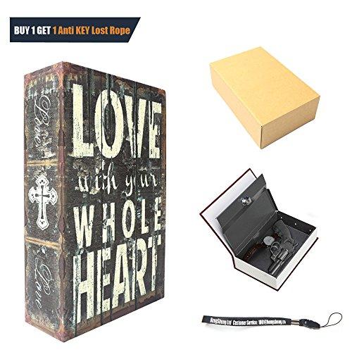 HENGSHENG Dictionary Secret Book Hidden Safe With Key Lock Book Safe Love Style Medium