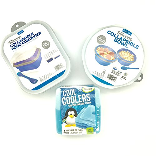 fit-fresh-cool-coolers-slim-lunch-ice-packs-set-of-4-with-fresh2go-collapsible-silicone-food-storage