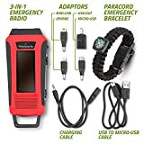 Horizons-Tec-HT-747-Emergency-NOAA-Weather-Radio-Solar-Hand-Crank-Powered-Mobile-Cell-Phone-Charger-Led-Flashlight-Paracord-Survival-Kit-Bracelet-Magnesium-Flint-Fire-Starter-Compass-Whistle