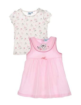 bbb8f0c7683a8 Bambi Ensemble Robe et T-Shirt Manches Courtes bébé Fille Blanc/Rose de 6 à  24mois: Amazon.fr: Vêtements et accessoires
