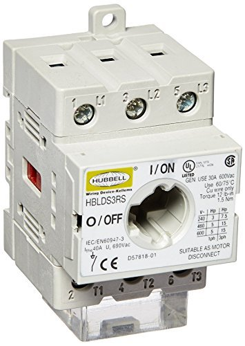 Hubbell Disconnect Switch - Hubbell HBLDS3RS Replacement Disconnect Switch Channel, 30 amp by Hubbell