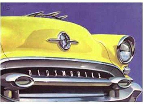 1955 OLDSMOBILE DEALERS COLOR SALES BROCHURE - SHOWS 10 MODELS - ADVERTISMENT 55