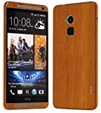 Skinomi TechSkin - HTC One Max Screen Protector + Light Wood Full Body Skin Protector / Front & Back Premium HD Clear Film / Ultra Invisible and Anti Bubble Shield