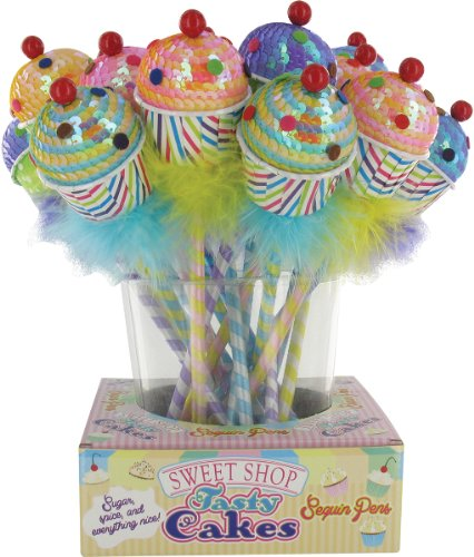Sweet Shop Sequin Cupcake Pen Case Of 72 by DDI