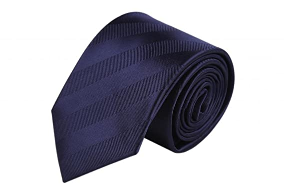 Zavetti de hombre corbata JACQUARD tejido de seda sólido azul ...