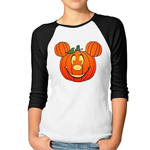MAIQU Womens Happy Halloween 3/4 Sleeve Baseball T Shirts RaglanTee]()