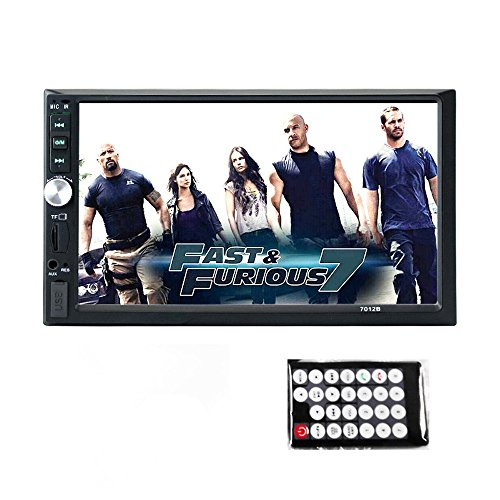 (NOVPEAK 7 Inch Double Din Touch Screen Car Stereo MP5 Player Car Radio Audio Support SD/USB/AUX/Remote Control (Black))