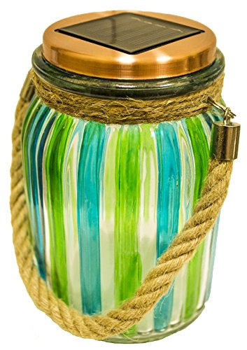 Garden Magic Table Lamp - Sogrand Solar Jar Lights Outdoor Lids for Mason Jars Hanging Green Lantern Home Decor 2018 of The Day Warm White LED Rope Hanger Copper Light Lid Decorative Lamp for Patio Garden Ba