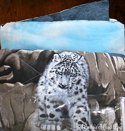 SNOW LEOPARDS Safari CATS Animal Print Comforter Set 76