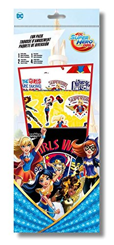 DC SuperHero Girls Activity Fun Pack With Stickers, Sticker Album, & Temporary (Disney Princess Temporary Tattoo Book)