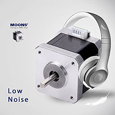 MOONS' Stepper Motor NEMA11 1A 0.091Nm(13oz-in) 2Phase 1.8 Degree 3D Printer Stepper Motor 31mm(1.22in.) Low Noise Stepping Motor (Cable04190 Include, Model MS11HS1P4100)