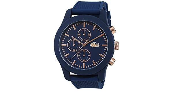 Amazon.com: Lacoste Poloshirt 2010827 Mens Chronograph Silicone strap: Lacoste: Watches