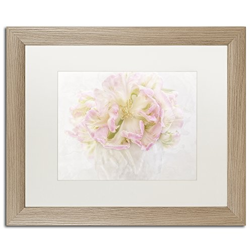 White Matte Birch Frame Pink Parrot Tulips Bouquet Wall Decor by Cora Niele, 16