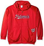 MLB Washington Nationals Men's Full Zip Poly Fleece with Wordmark Chest with Logo near Pocket, 2X/Tall, Red