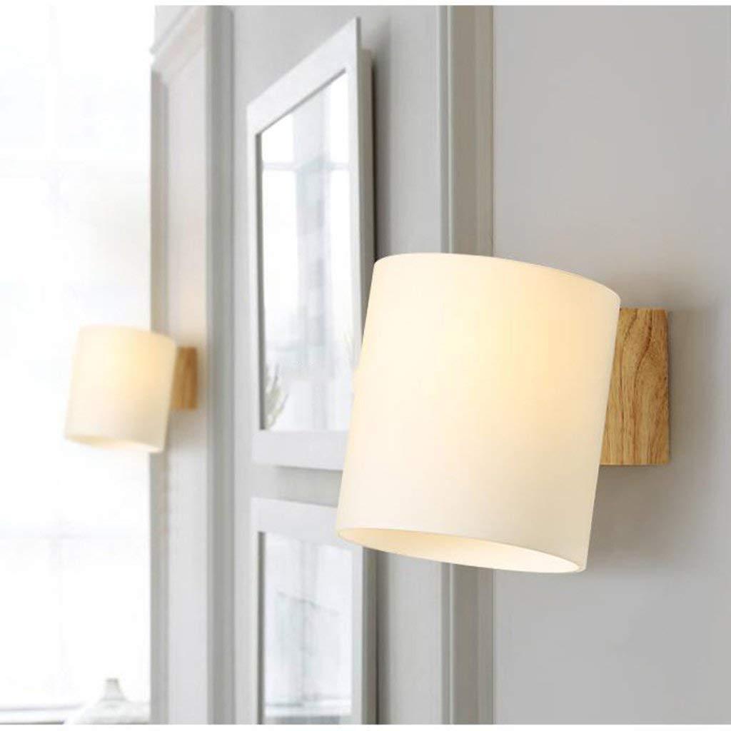 JZX Wandleuchte, Nachttischlampe, Treppenhausleuchte aus massivem Holz