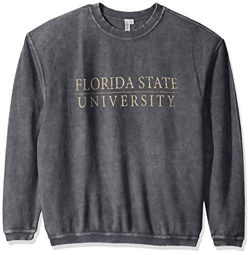 (chicka-d Women's Corded Sweatshirt, Charcoal, Medium)