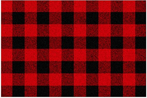 (Lumberjack Placemats - Paper Place Mats in Rustic Red Buffalo Plaid, 25 SHEETS | Lumberjack Party Supplies)