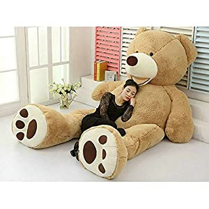 """78""""(6.5 Feet) Giant Teddy Bear Cover Light Brown ( Semi-Finished, No Filler Cotton, Shell with Zipper ) 200cm - 51kAk6oX3jL - 78″(6.5 Feet) Giant Teddy Bear Cover ( Only Outer Shell with Zipper ) 200cm"""