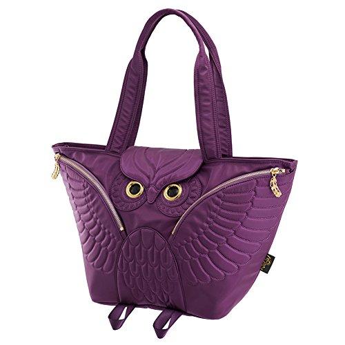 Purple Tote 700 Morn Flying Owl Ow 401 Creations Bag fZaqU