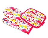 144 100% COTTON OVEN MITTS & 144 POTHOLDERS KITCHEN SET MACHINE WASHABLE WHOLESALE BULK LOT (ASSORTED STYLES)