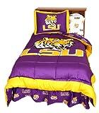 LSU Reversible Comforter Set -King - LSU Fighting Tigers
