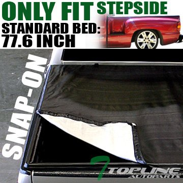 (Topline Autopart Snap-On Tonneau Cover 99-07 Chevy Silverado/Gmc Sierra Stepside 6.5 Ft Short Bed)