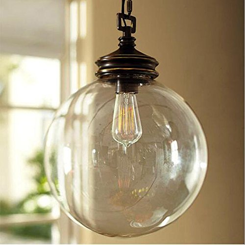 Glass Pendant Light With Chain - 6