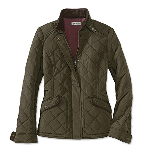 Orvis Quilted Jacket - Orvis Women's Sunderland Diamond-Quilted Jacket, Green, X Small