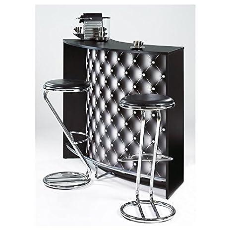 SIMMOB - Mueble Bar - Comptoir de Acoplamiento 2 Puertas Negro - Color - capitons 911: Amazon.es: Hogar