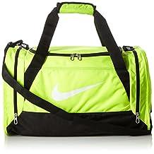 Nike Brasilia 6 Medium Sports Duffel Gym Bag Volt/Black/White