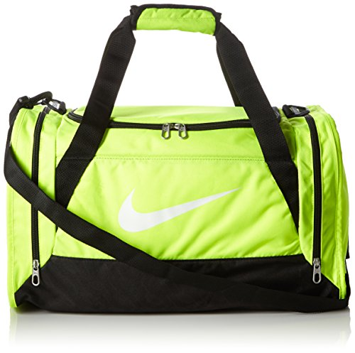Nike Brasilia 6 (Small) Training Gym Duffel Equipment Bag Volt/Black/White