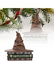 2021 New Harry Potter Sorting Hat Christmas Ornament - 1/2pcs Harry Potter Sorting Hat, Magic Keepsake Christmas Ornament, Sound and Motion Christmas Hat Decoration Decoration for Garden