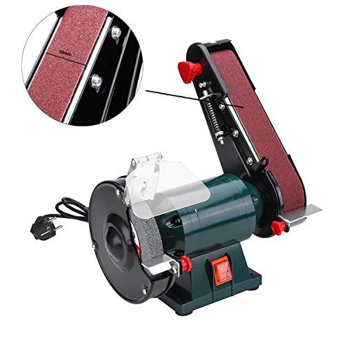 OlogyMart 6 Inch 150mm Bench Grinder Belt Sander Sharpener Linisher Electric Sanding Grinding Machine