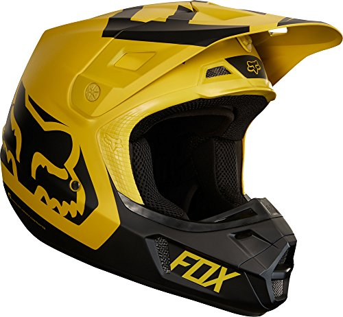 2018 Fox Racing V2 Preme Helmet-Dark Yellow-S ()