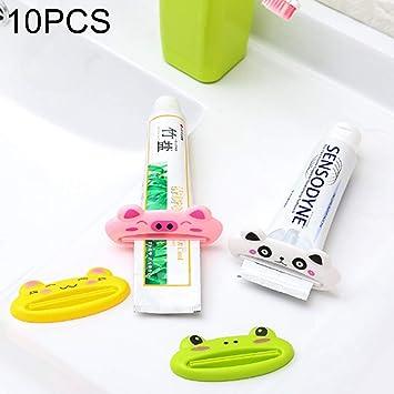 Easy Go Shopping Crema Dental para Dibujos Animados Exprimidor de Pasta de Dientes Exprimidor Limpiador, 10 Piezas Estilo Aleatorio de Entrega Suministros ...