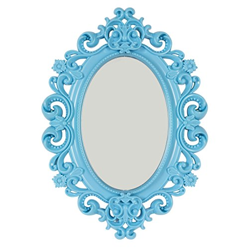 Baroque Magnetic School Locker Mirror/Office Locker Mirror/Room Mirror - Must Have Locker Accessory/Decoration (Turquoise)
