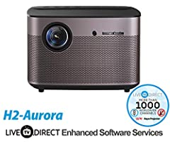 Home Cinema Projector, LiveTV.Direct English Enhanced Software Services H2-Aurora Auto Focus Native 1080p HD Projector Android 3D Smart Projector TV Built-in Harman/Kardon Customized HiFi Stereo