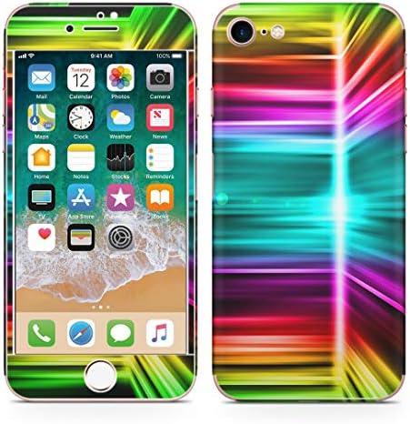 igsticker iPhone SE 2020 iPhone8 iPhone7 専用 スキンシール 全面スキンシール フル 背面 側面 正面 液晶 ステッカー 保護シール 003324 クール チェック・ボーダー ラグジュアリー シンプル カラフル