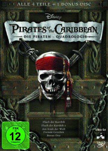 Price comparison product image DVD * Fluch der Karibik 5 Disc Set Box DVD [Import allemand]