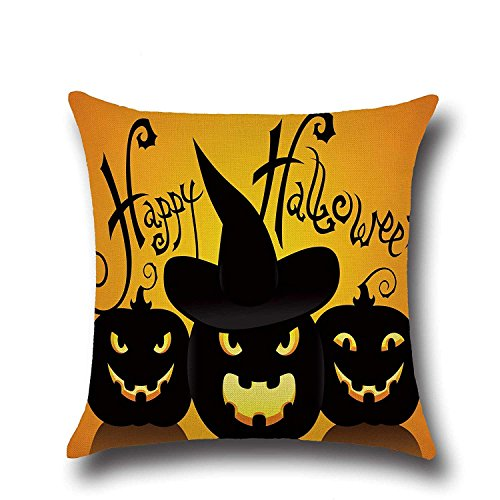 SPXUBZ Magic Pumpkins Sayings Happy Halloween Quotes Flax Throw Pillow Cover Home Decor Nice Gift Square Indoor Linen Pillowcase Standar Size:24x24 in (Two Sides)