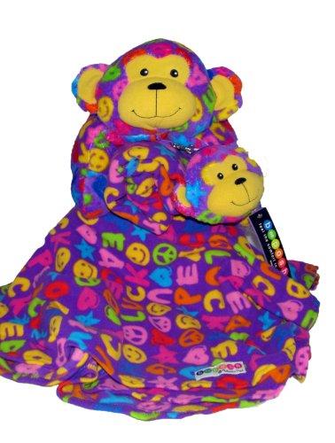 Monkey Pattern (Beeposh Ricky Monkey Pillow Pet, Coin Purse and Fleece Blanket By Melissa and Doug)