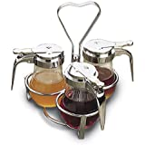 Tablecraft (406-3R) 3-Ring Chrome-Plated Condiment Rack