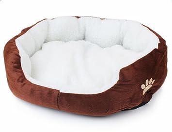 Vi.yo Cama de perro Dimple forro polar cueva de nido para ...