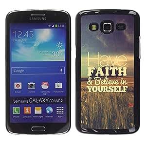 YOYOYO Smartphone Protección Defender Duro Negro Funda Imagen Diseño Carcasa Tapa Case Skin Cover Para Samsung Galaxy Grand 2 SM-G7102 SM-G7105 - tienen campos fe motivación viñeta
