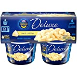 kraft cheese and macaroni - Kraft Macaroni & Cheese Deluxe, White Cheddar Cups 4 Pack, 9.56 Ounce