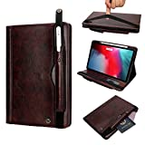 iPad Pro 11 Inch Cover, TechCode Lightweight Slim Folio Magnetic Smart Case Cover with Card Slots Supports Apple Pencil Charging for 2018 iPad Pro 11 inch A1980 A1934 A2013 A1979 (Dark Brown)