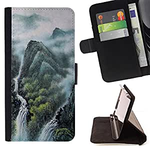 - Design Japanese Mythical Forrest - - Monedero PU titular de la tarjeta de cr????dito de cuero cubierta de la caja de la bolsa FOR Samsung Galaxy S6 EDGE RetroCandy