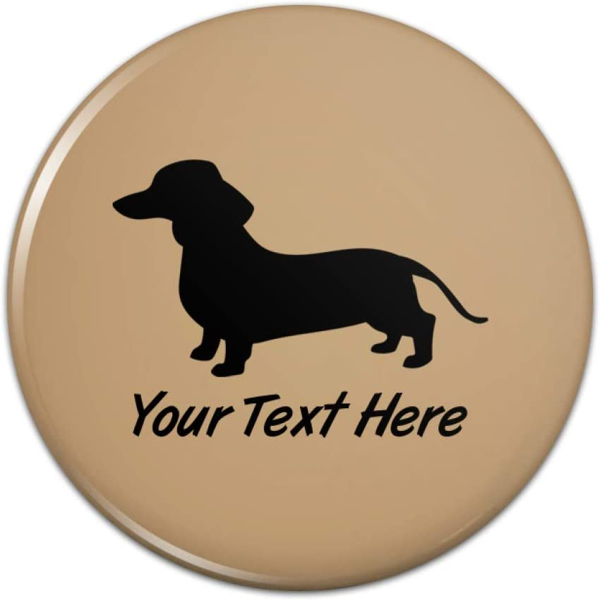 Personalized Custom Dachshund Wiener Dog 1 Line Kitchen Refrigerator Locker Button Magnet