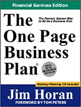 Amazon.com: The One Page Business Plan, Financial Services Edition ...